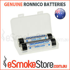2 x Ronnico Flat Top 3400mAh 3.7V Protected Panasonic NCR 18650 B Batteries