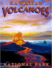 Hawaiian Volcanoes Hawaii Park United States Travel Advertisement Art Poster Prt