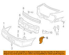 Chevrolet GM OEM Malibu Rear Bumper-Bumper Cover Reinforcement Left 22604761