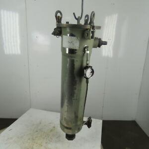 """Parker 9501-0020-UM/FB12-2 Bag Filter Stainless Steel Vessel 2"""" NPT 201PSI"""