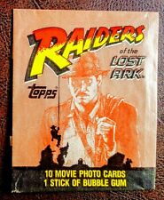 """1981 Topps """"Raiders of the Lost Ark"""" Cards Wax Pack Wrapper Indiana Jones"""