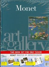 Art Gallery Two Book Set (Monet & Van Gogh) Hardcover Factory Packaged Unopened