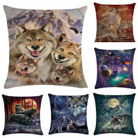 """Lonely Wolf Painting Pillow Case Sofa Throw Cushion Covers Home Decorative 18"""""""