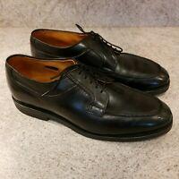 Allen Edmonds Stockbridge 10 D Black Leather Dress Oxford Split Toe