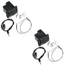2 Pcs Guitar Equalizer EQ and Preamp Piezo Cable Pickup for Ukulele Parts