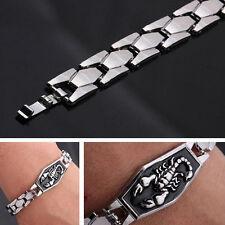 Men  Titanium Steel Scorpion Motorcycle Chain Bangle Bracelet Wristband IU