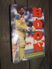 Boon: in the Firing Line by David Boon SIGNED 1st Edition PB 1993 CRICKET ASHES
