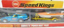 MATCHBOX SPEED KINGS K-58 * CHEVROLET CORVETTE & POWER BOAT PACK  * OVP