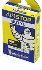 A1 Airstop Butyl, 700C Road Bike Tube-18-25C-Presta-52mm