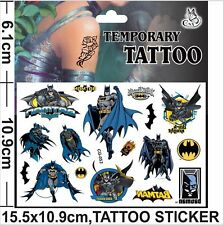 HOT Batman Cartoon Kids Boys Girls Temporary Tattoos Stickers Body Art