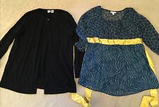 Maternity Clothing Large Womens Lot Duo Liz Lange Cardigan Blouse