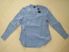 BN David Lawrence Blue Long Sleeve Cotton Pleated Top  Size : 12