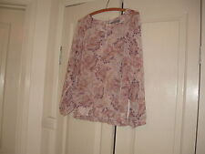 Ladies Top Design Just Jeans Size 8  Colour Pink, Purple & White Long  Sleeves