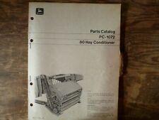 John Deere 80 Hay Conditioner Parts Catalog Manual Book Original Pc-1072