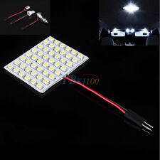 12V DC White LED 48SMD Panel Interior Dome Map Light Bulbs Lamp T10 BA9s Festoon