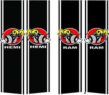 Dodge Ram or Hemi stripe on bed custom decal. dodge decal or sticker