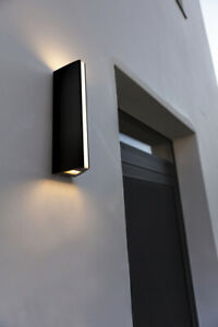 CGC Moden Slim Vertical Outdoor LED Wall Light Anthracite Finish IP54 3000k