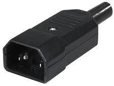 10xtransmedia strom netzstecker kaltgerätestecker iec 320 c14 schraubbar schwarz