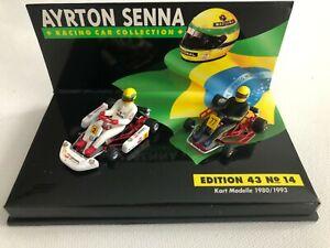 1980 /1993 Ayrton Senna | Kart Modelle | 1:43 LANG Diecast Model Edition 43 No14