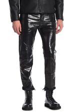 Diesel Mharky Straight Leg Leather Panel Pants W36  L30