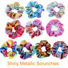 8Pcs Shiny Metallic Elastic Hair Ties Women Hair Scrunchies Ponytail Holder AU