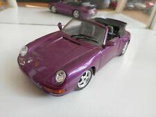Bburago Burago Porsche 911 Carrera Cabriolet in Purple on 1:24