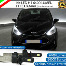 ABBAGLIANTE LED FORD B-MAX BMAX B MAX H1 6400 LUMEN ACCENSIONE RAPIDA 6000K