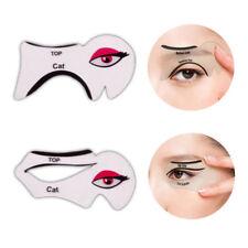 2er Eyeliner Schablone Lidschatten Augenbrauen Hilfe Cat Eye Liner