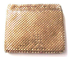 GLAMOROUS 1920s WOMAN BIFOLD WALLET~ GOLD MESH METAL ~MADE IN WEST GERMANY~ NEW