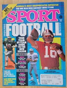 1989 SPORT MAGAZINE-AUGUST ISSUE-PRO FOOTBALL PREVIEW-EXCELLENT CONDITION