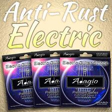 Triple(3) Pack of Adagio Premium AntiRust Coated Electric Guitar Strings 9s 9-42