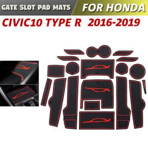 Gate slot pad For Honda Civic 10 Type R Accessories 2016-2019 Anti-Slip Mat Red