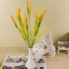 A bunch of Artificial Autumn Wheat Flower Bouquet Wreath Fake Flowers DIY DecoXI
