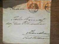 Bayern 179 MeF 3x auf Brief von Bayreuth nach Landau