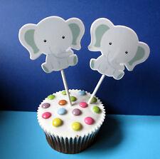Elefanten - 24 XL Cupcake Muffin Cake Topper picks - Topperpicks - Käsepicks