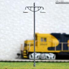8 Stück Modell Laternenpfahl Metall Strassenlicht Spur HO/OO Modellbau #614
