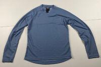 Women's Kathmandu Altica Blue Polyester Long Sleeve V-Neck T-Shirt Top Size 12