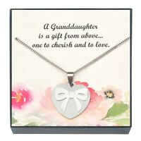 """Granddaughter Pendant Necklace, Granddaughter Jewelry, Granddaughter Gifts, """"18"""