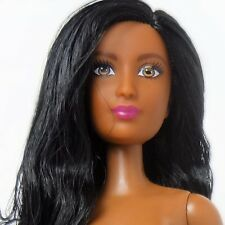 Fashionista Barbie African American doll #34 Raven hair Brown eyes Nude
