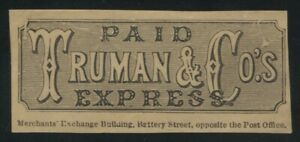 Truman & Co's. Express frank label