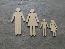 2 x Set of Wooden Family Man Woman Child Craft Blanks
