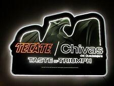 New Tecate Soccer Chivas De Guadalajara BEER LED Beer Sign bar Light Edge Lit