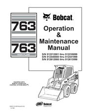 New Bobcat 763 & 763 Highflow Operation & Maintenance Manual 6900371