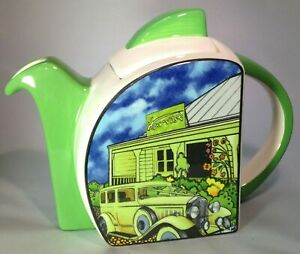 Clarice Cliff Gotham  STUNNING Out Of Issue 'Newrybar' Teapot - RARE - NR!