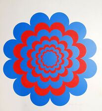 Brian Rice  Flasher 1967 Original Print Silkscreen Vintage Op Art