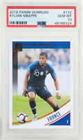 2018 Panini Donruss Kylian Mbappe France Rookie RC #132 PSA 10 GEM MINT