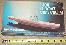 VINTAGE Heller 1/400 Scale Model German WW2 Type VII C Submarine