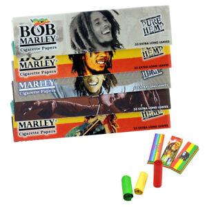 Bob Marley Rolling Papers King Size Cigarette Skins Optional Rasta Filter Roach