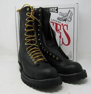 """White's Boots, 400LTT-VST, 8.5 E, 10"""". Black. Vibram soles."""