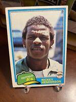 1981 Topps Rickey Henderson Oakland Athletics #261